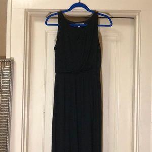 LOFT Petite Small Black Maxi Dress